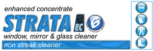 Strata window, mirror and glass cleaner